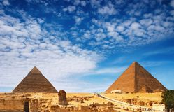Pirâmides egípcias Foto de Stock