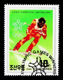 Pirmin Zurbriggen瑞士,冬季奥运会卡尔加里奖牌获得者serie,大约1988年 免版税库存照片