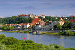 Pirna, skyline of the town Stock Image