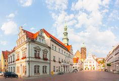 Pirna, susnet Германии стоковые фотографии rf