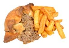 Pirog och Chips Meal Royaltyfria Foton
