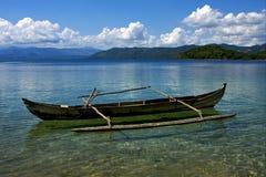 Piroga在马达加斯加 免版税库存图片