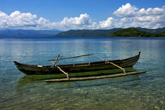 Piroga in Madagaskar lizenzfreies stockbild