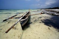 Piroga und Zanzibar Stockbild
