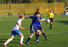 Piroghnyuk Elena (5) w akci z piłką Fotografia Stock
