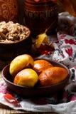 Pirogi fait maison Pâtisseries russes traditionnelles images libres de droits