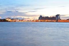 Pirogovskaya Embankment in St.Petersburg. Stock Photo