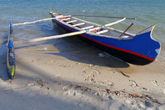 A pirogue on the beach Stock Photography