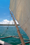 Pirogue in Nieuw-Caledonië Stock Foto