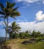 Pirogues morzem, Foulpointe, Toamasina II, Madagascar zdjęcia royalty free