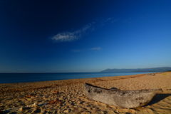 Pirogues op Kande-Strand Meer Malawi, Malawi Royalty-vrije Stock Fotografie
