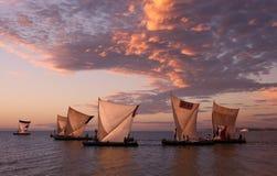 Pirogues tradicionais da pesca em Anakao, Madagáscar Imagens de Stock