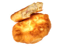Pirojki. Traditional delicious Russian patty. With potatoes and meat Stock Photos