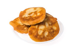 Pirojki. Traditional delicious Russian patty. With potatoes and meat Stock Image