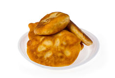 Pirojki. Traditional delicious Russian patty. With potatoes and meat Stock Images