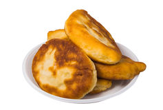 Pirojki. Traditional delicious Russian patty. With potatoes and meat Royalty Free Stock Image