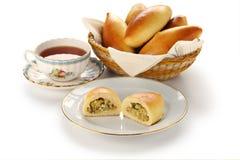 Piroshki, pirozhki, russian food Stock Photos