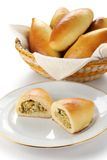 Piroshki stuffed with cabbage and eggs Royalty Free Stock Images