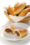 Piroshki stuffed with ground beef Stock Photos