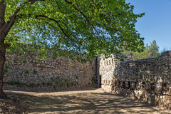 PIROT, SÉRVIA -16 ABRIL DE 2016: Vista surpreendente da fortaleza de Pirot, Sérvia Foto de Stock