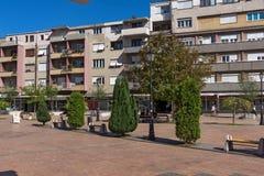PIROT, SERBIA -16 APRILE 2016: Centro della città di Pirot, Serbia Fotografie Stock Libere da Diritti
