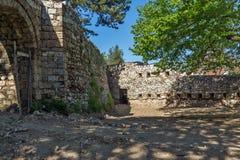 PIROT, SERBIA -16 APRILE 2016: Vista stupefacente della fortezza di Pirot, Serbia Immagine Stock Libera da Diritti