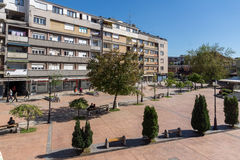 PIROT, SERBIE -16 EN AVRIL 2016 : Centre de ville de Pirot, Serbie Photo stock