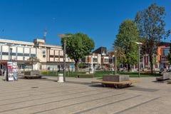 PIROT, SERBIE -16 EN AVRIL 2016 : Centre de ville de Pirot, Serbie Photographie stock libre de droits