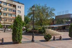 PIROT, SERVIË -16 APRIL 2016: Centrum van stad van Pirot, Servië Royalty-vrije Stock Afbeelding