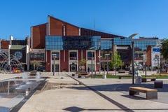 PIROT, SERVIË -16 APRIL 2016: Centrum van stad van Pirot, Servië Stock Afbeeldingen