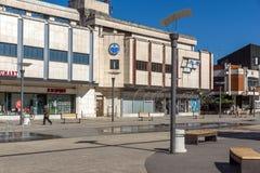 PIROT, SERVIË -16 APRIL 2016: Centrum van stad van Pirot, Servië Stock Fotografie