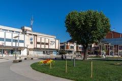 PIROT, SERVIË -16 APRIL 2016: Centrum van stad van Pirot, Servië Royalty-vrije Stock Fotografie