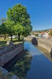 PIROT, SERVIË -16 APRIL 2016: Verbazende mening van Pirot-Vesting, Servië Royalty-vrije Stock Fotografie