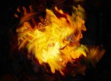 Pirouette d'éclair lumineux d'explosion sur les milieux noirs Images stock