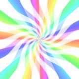 Pirouettes lumineuses de bande de couleur illustration libre de droits