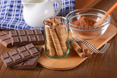 Pirouline Wafer Cookie Royalty Free Stock Image