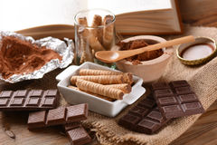 Pirouline Wafer Cookie Stock Photography