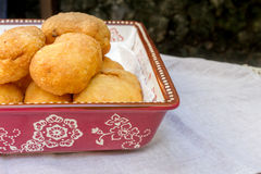 Pirozhki, russian traditional food, Meat patties in the plate, v Stock Images