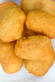 Pirozhki, russian traditional food, Meat patties in the plate, v Stock Image