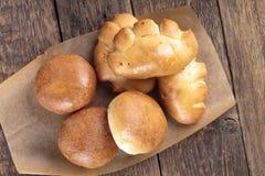 Pirozhki. Traditional Russian small stuffed pies royalty free stock image