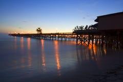 pirsan för clemente full solnedgång Royaltyfria Bilder
