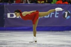 Pirueta da patinagem artística Fotografia de Stock Royalty Free