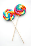 Piruleta coloreada arco iris Fotografía de archivo libre de regalías