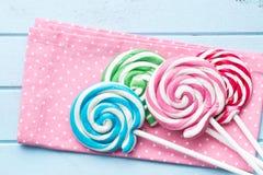 Piruleta colorida del remolino Imagen de archivo libre de regalías