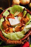 Piruleta del pollo Foto de archivo