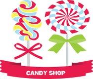 Piruleta, dulce, caramelo Stock de ilustración