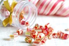 Piruletas coloridas mezcladas del caramelo Fotos de archivo