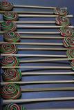 Piruletas coloridas sabrosas Foto de archivo