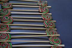 Piruletas coloridas sabrosas Imagen de archivo libre de regalías