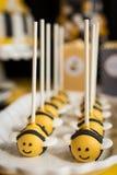Piruletas de la abeja de la burbuja Fotografía de archivo libre de regalías